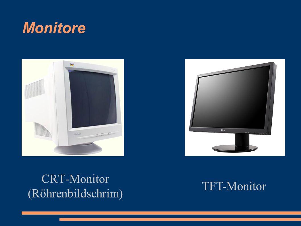 Monitore CRT-Monitor (Röhrenbildschrim) TFT-Monitor