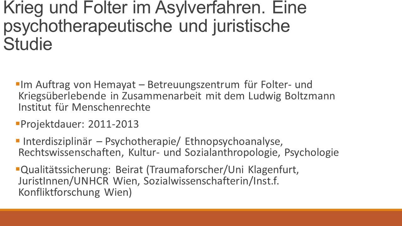 Krieg und Folter im Asylverfahren.