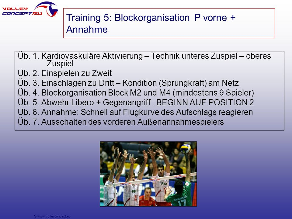 © www.volleyconcept.eu Üb. 1.