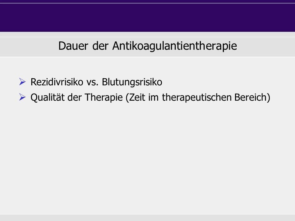 Dauer der Antikoagulantientherapie  Rezidivrisiko vs.