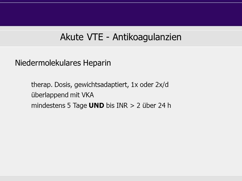 Niedermolekulares Heparin therap.