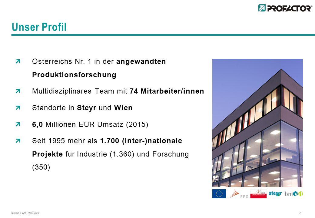 © PROFACTOR GmbH 2  Österreichs Nr.