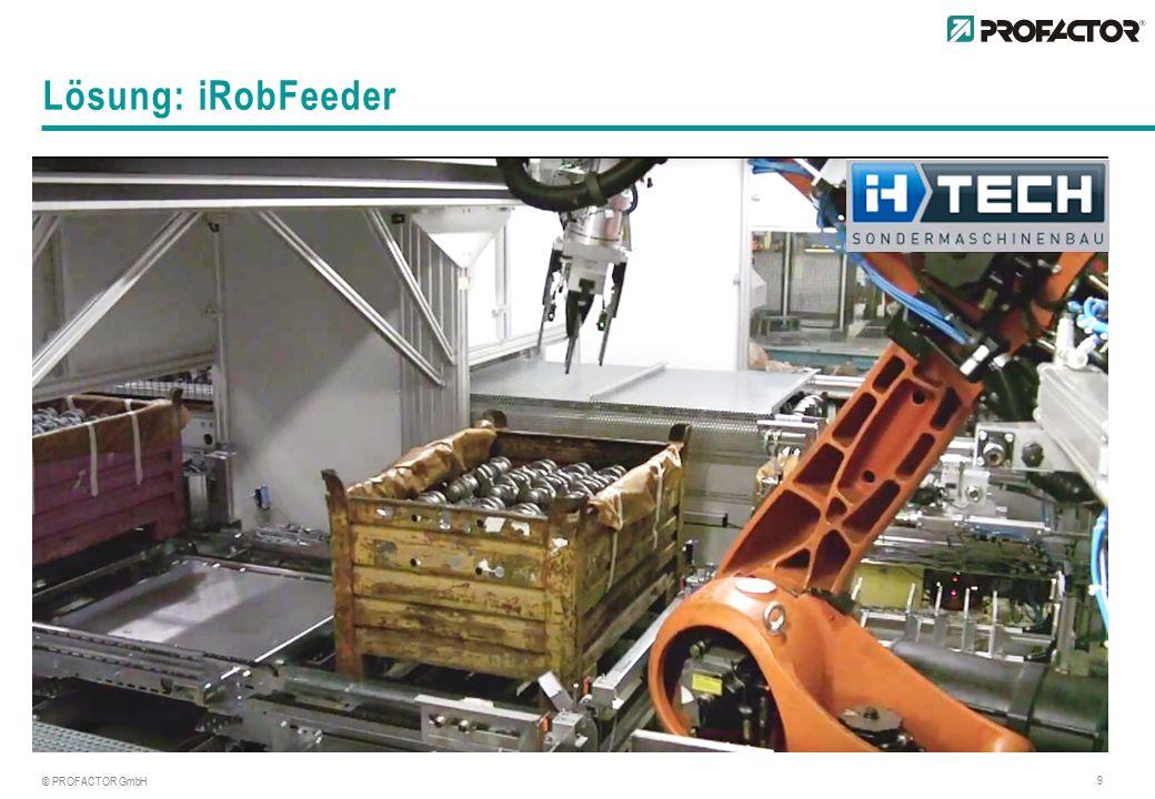 © PROFACTOR GmbH 9 Lösung: iRobFeeder