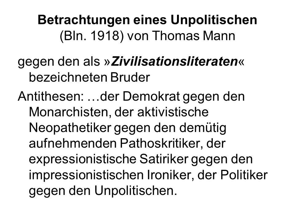 Betrachtungen eines Unpolitischen (Bln.