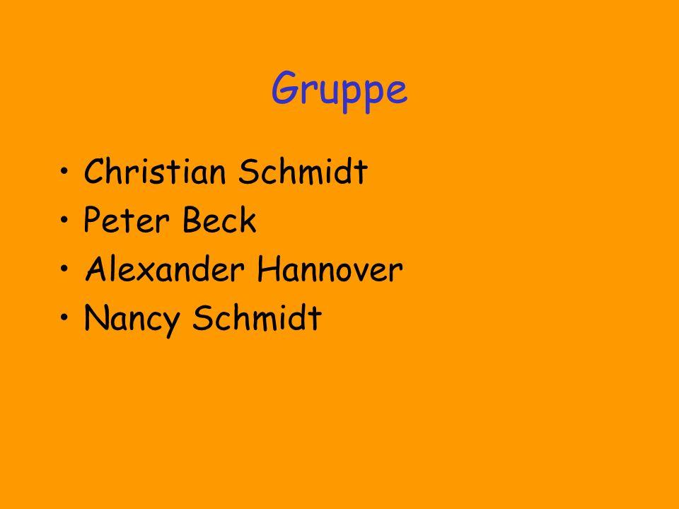 Gruppe Christian Schmidt Peter Beck Alexander Hannover Nancy Schmidt