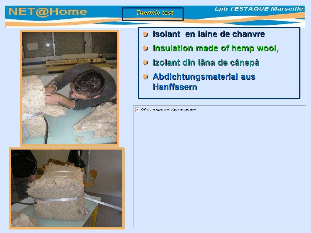 Isolant en laine de chanvre Insulation made of hemp wool, Izolant din lâna de cânepà Abdichtungsmaterial aus Hanffasern