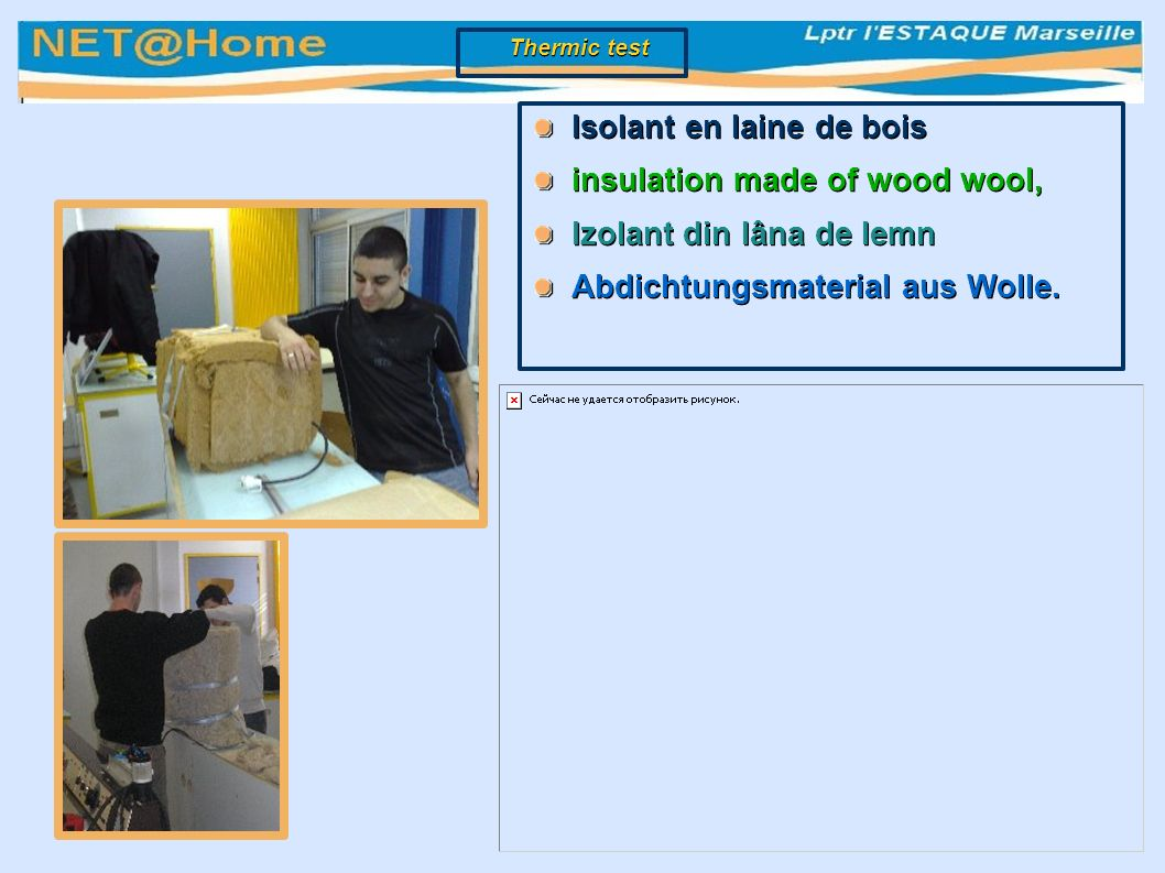 Isolant en laine de bois insulation made of wood wool, Izolant din lâna de lemn Abdichtungsmaterial aus Wolle.