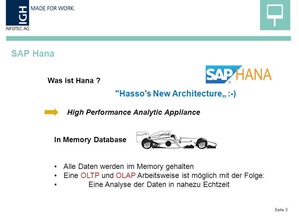 SAP Hana Seite 3 Was ist Hana .