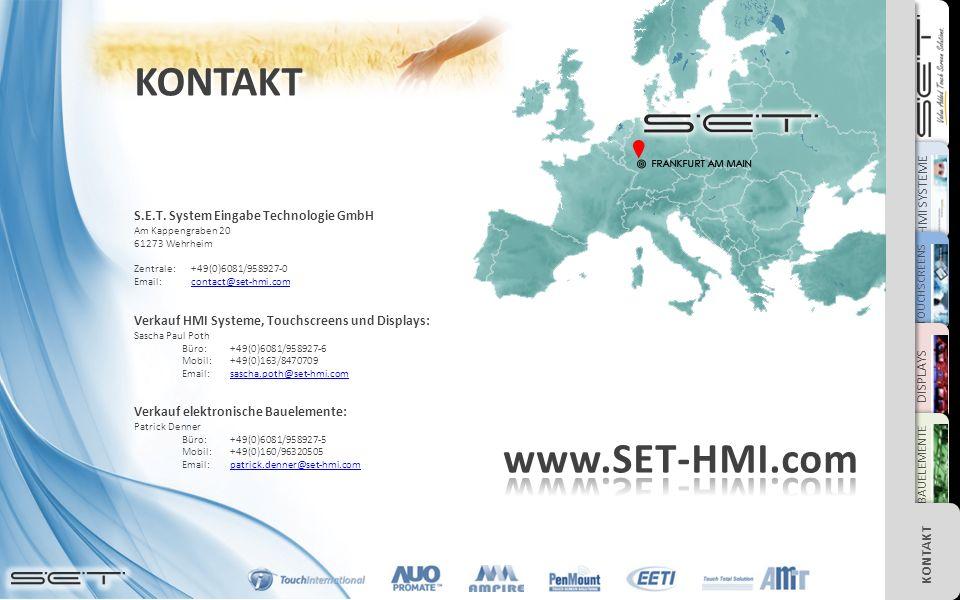 HMI SYSTEME TOUCHSCREENS DISPLAYS BAUELEMENTE KONTAKT S.E.T.