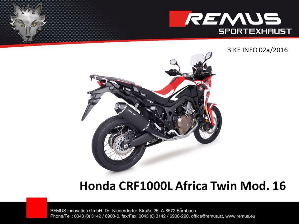 Honda CRF1000L Africa Twin Mod. 16 BIKE INFO 02a/2016