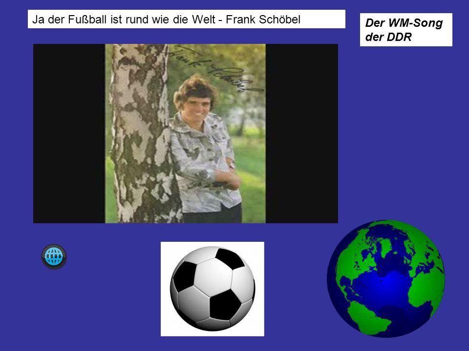 Ja der Fußball ist rund wie die Welt - Frank Schöbel Der WM-Song der DDR