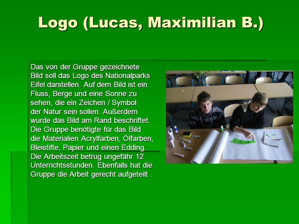 Logo (Lucas, Maximilian B.) Logo (Lucas, Maximilian B.) Das von der Gruppe gezeichnete Bild soll das Logo des Nationalparks Eifel darstellen.