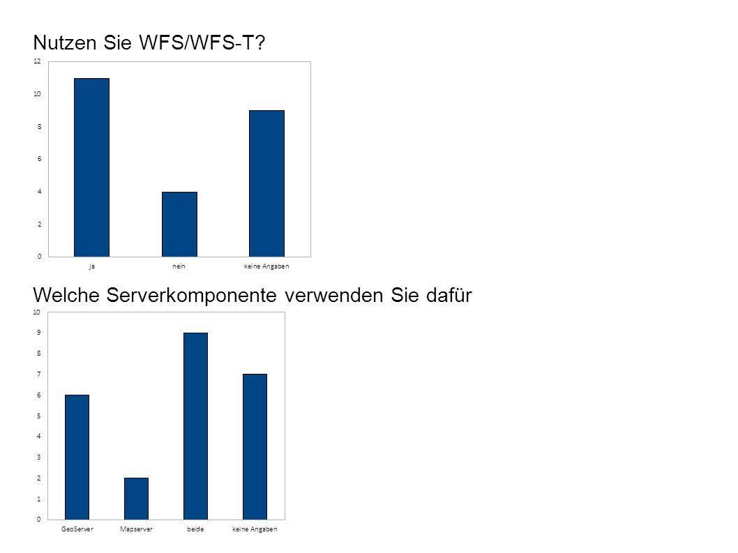 Nutzen Sie WFS/WFS-T Welche Serverkomponente verwenden Sie dafür