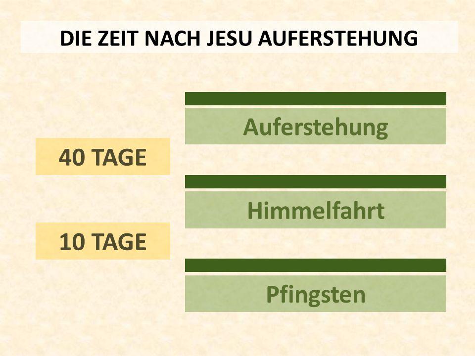 40 TAGE Auferstehung Himmelfahrt Pfingsten DIE ZEIT NACH JESU AUFERSTEHUNG 10 TAGE