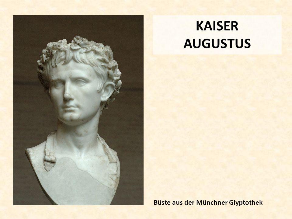 KAISER AUGUSTUS Büste aus der Münchner Glyptothek