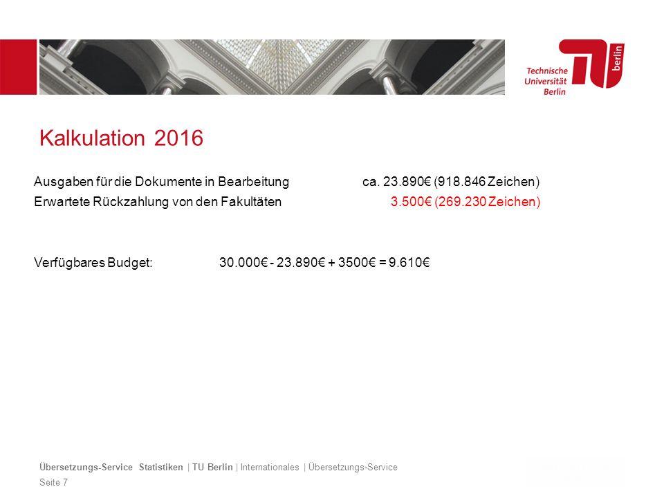 Dezentrales Logo optional Kalkulation 2016 Ausgaben für die Dokumente in Bearbeitung ca.