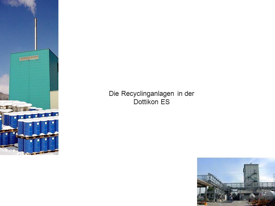 Die Recyclinganlagen in der Dottikon ES