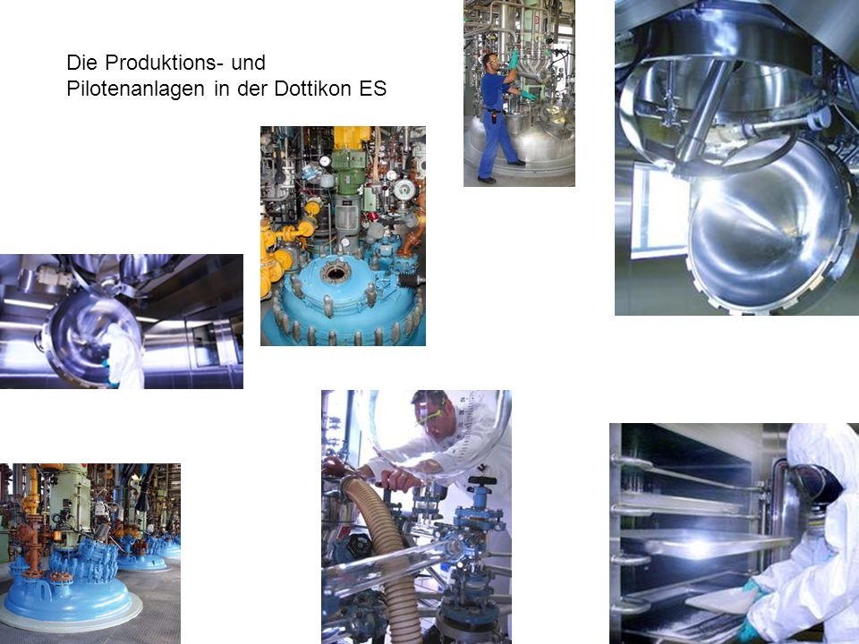 Die Produktions- und Pilotenanlagen in der Dottikon ES