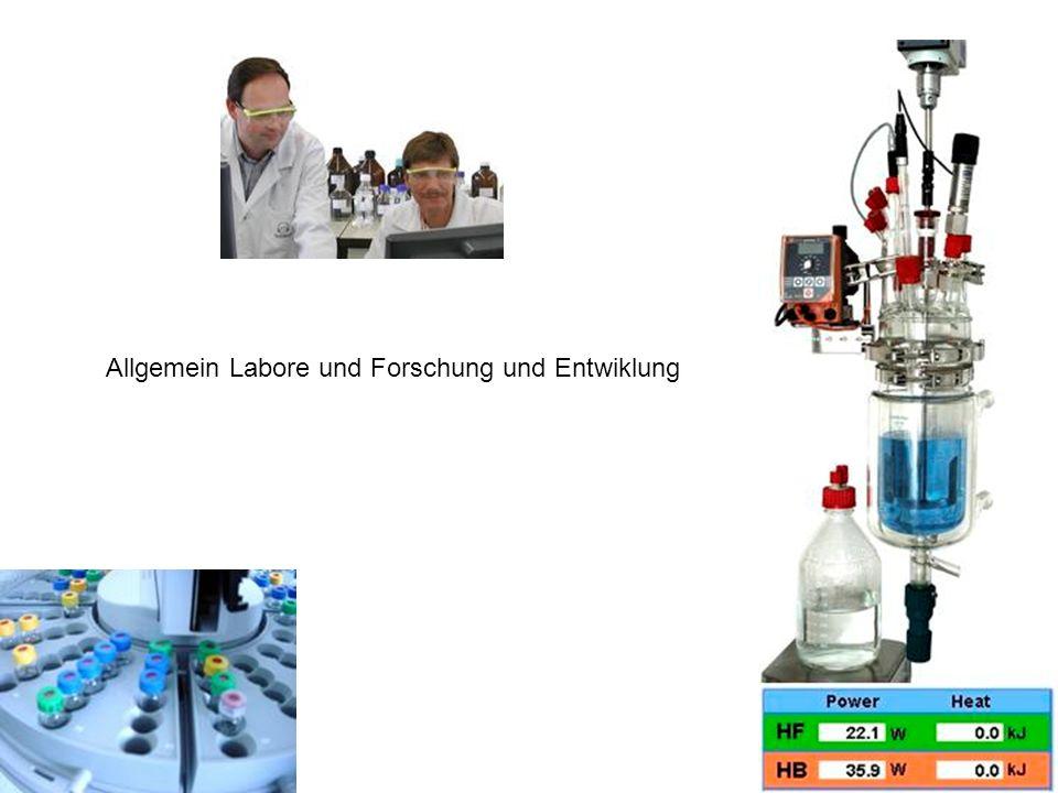 Allgemein Labore und Forschung und Entwiklung