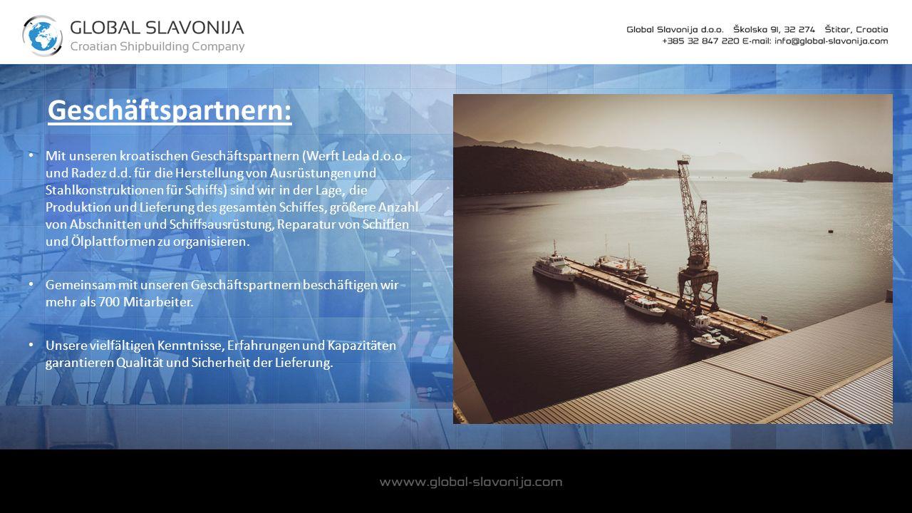 Geschäftspartnern: Mit unseren kroatischen Geschäftspartnern (Werft Leda d.o.o.