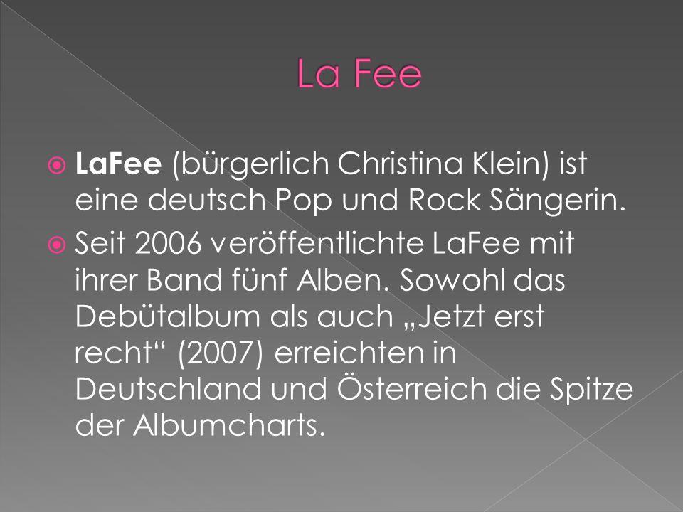  LaFee (bürgerlich Christina Klein) ist eine deutsch Pop und Rock Sängerin.