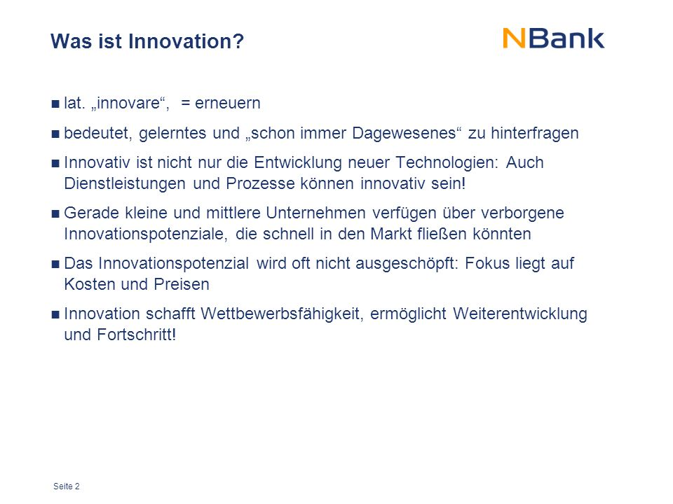 Seite 2 Was ist Innovation. lat.