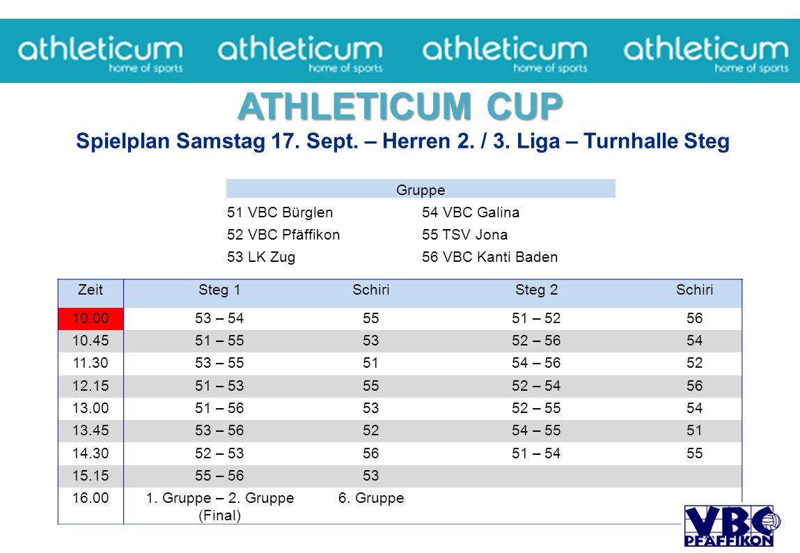 ATHLETICUM CUP ATHLETICUM CUP Spielplan Samstag 17.