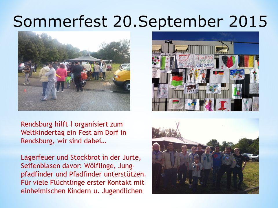 Sommerfest 20.September 2015 Rendsburg hilft .