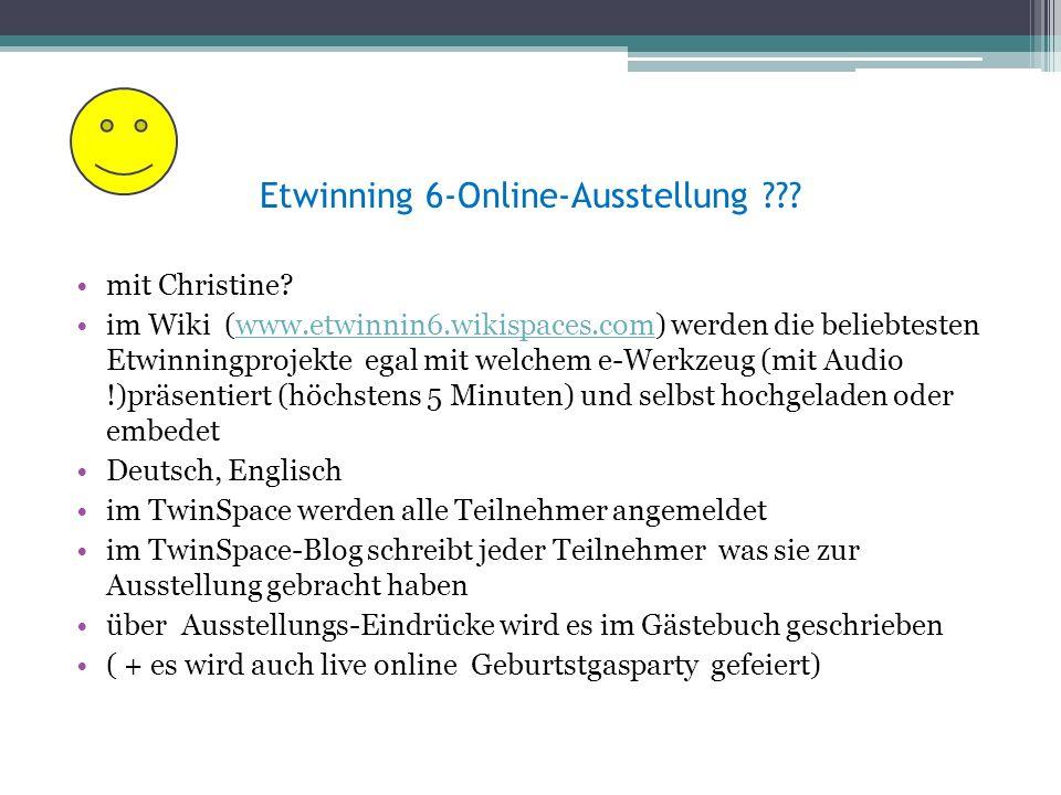 Etwinning 6-Online-Ausstellung . mit Christine.