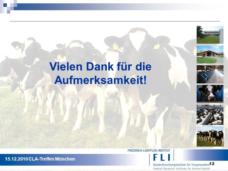 12 Vielen Dank für die Aufmerksamkeit! 15.12.2010 CLA-Treffen München