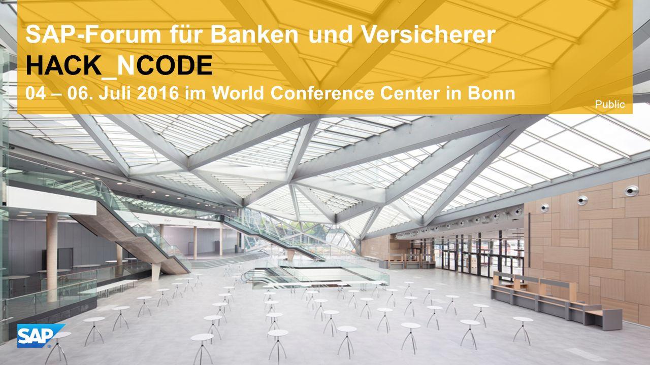 Use this title slide only with an image SAP-Forum für Banken und Versicherer HACK_NCODE 04 – 06.