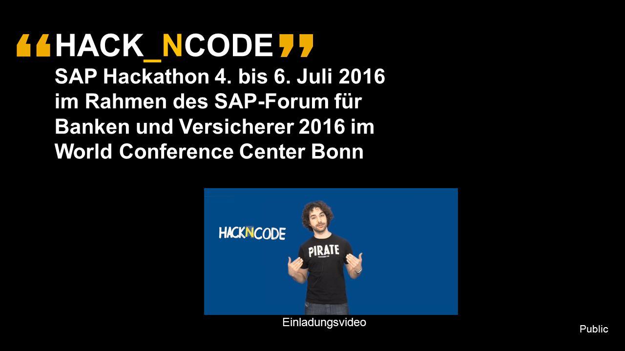 HACK_NCODE SAP Hackathon 4. bis 6.
