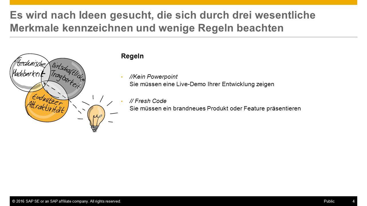 ©2016 SAP SE or an SAP affiliate company.
