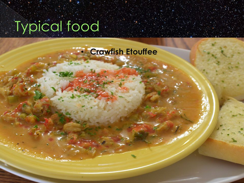 Typical food Crawfish Etouffee