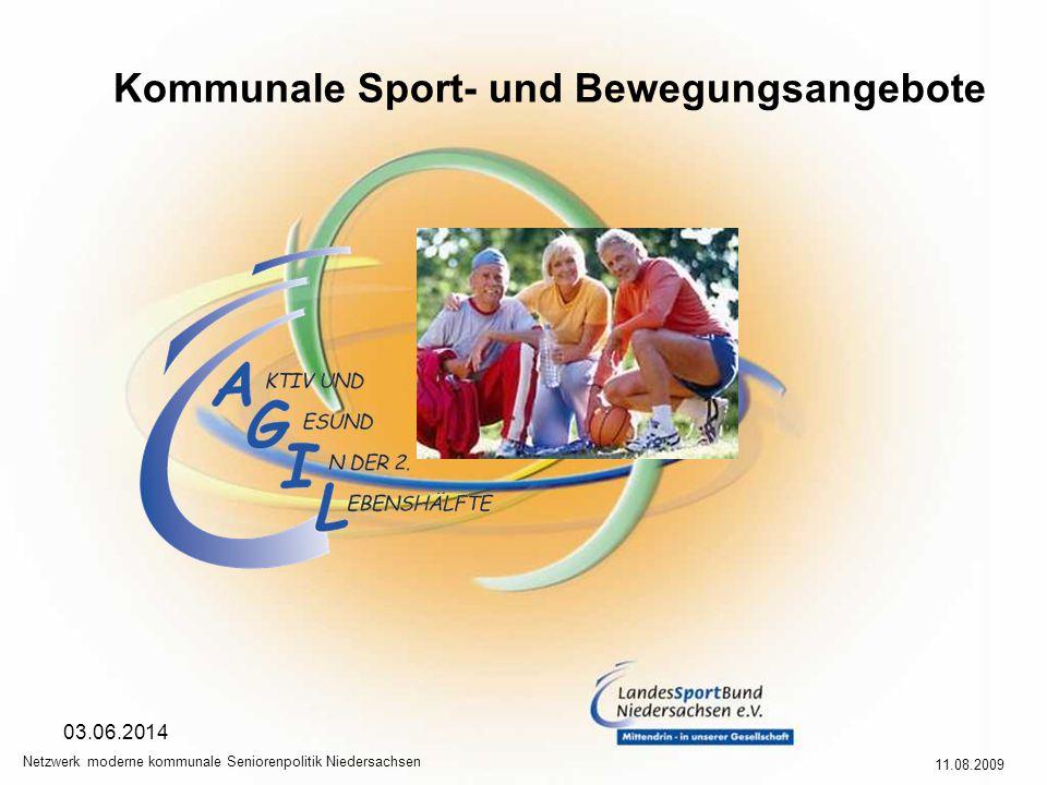 Kommunale Sport- und Bewegungsangebote 11.08.2009 Netzwerk moderne kommunale Seniorenpolitik Niedersachsen 03.06.2014