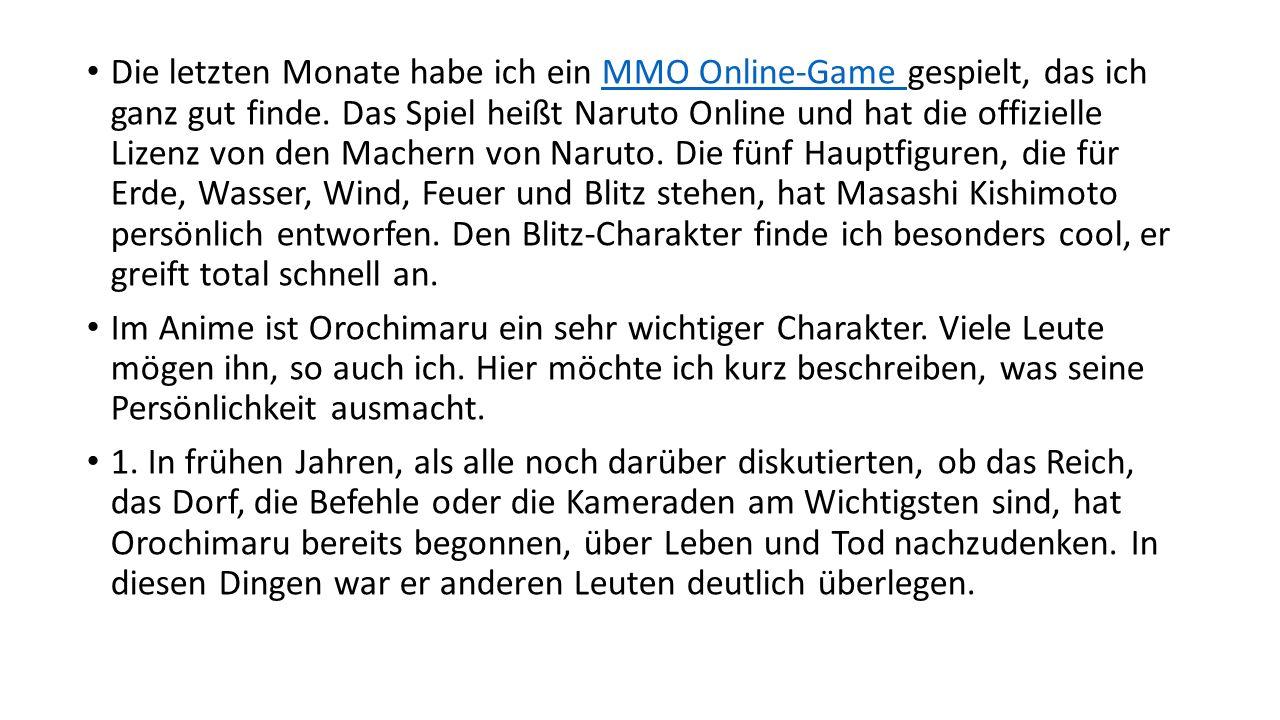 Die letzten Monate habe ich ein MMO Online-Game gespielt, das ich ganz gut finde.
