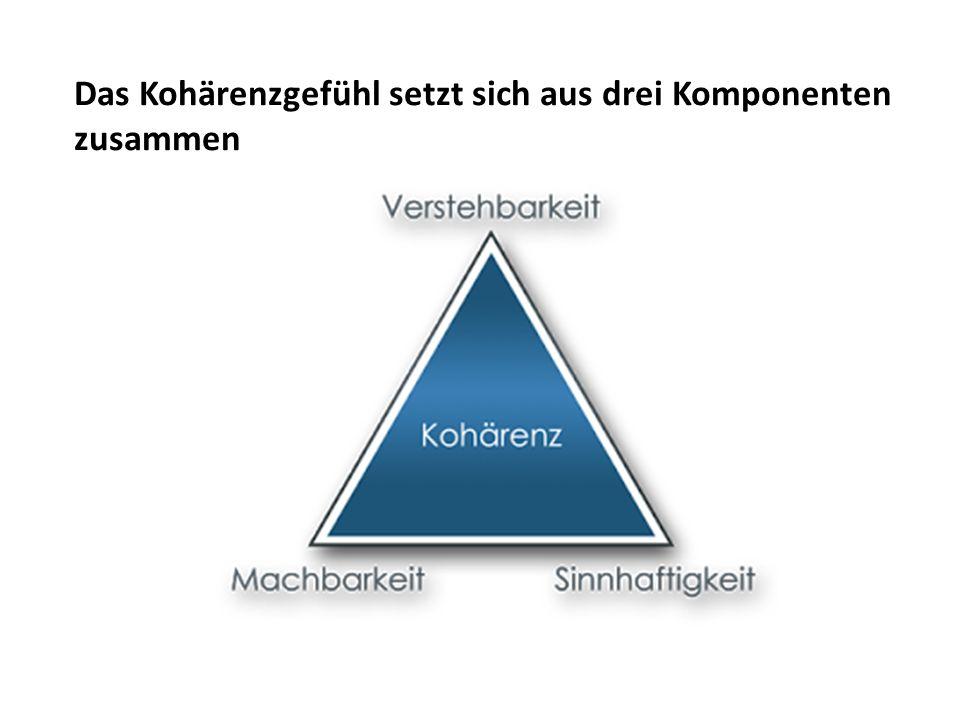 Das Kohärenzgefühl setzt sich aus drei Komponenten zusammen