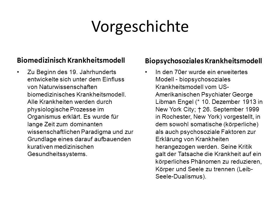 Vorgeschichte Biomedizinisch Krankheitsmodell Zu Beginn des 19.