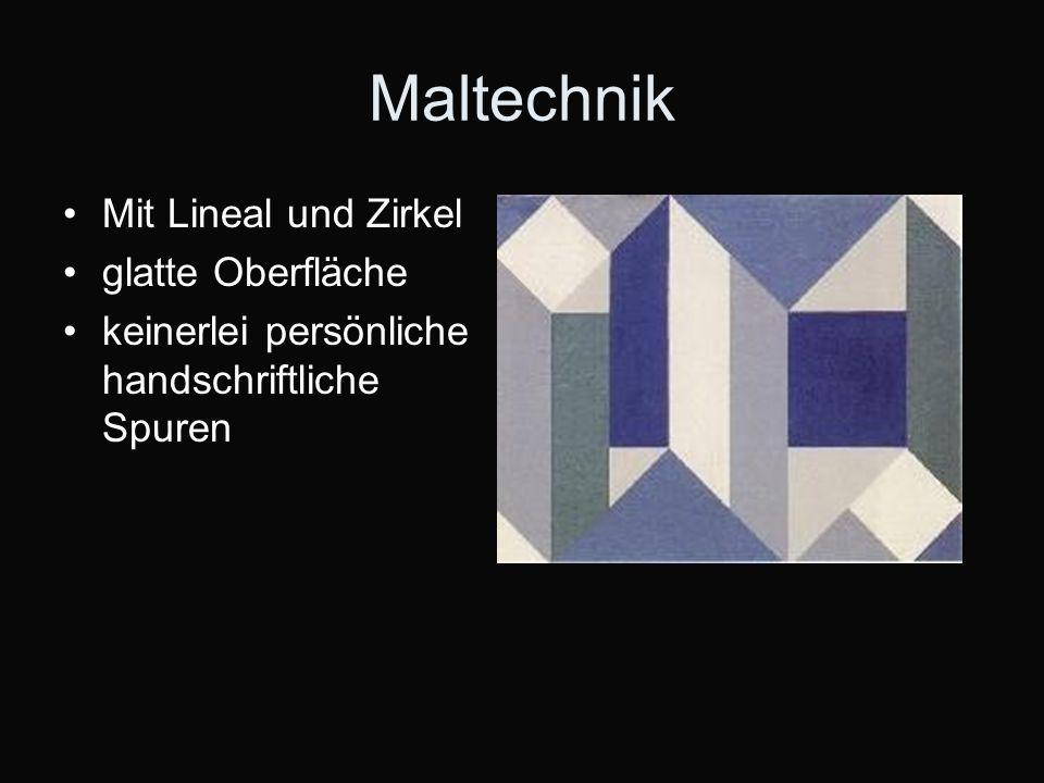 Maltechnik Mit Lineal und Zirkel glatte Oberfläche keinerlei persönliche handschriftliche Spuren