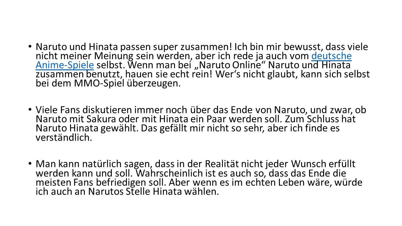 Naruto und Hinata passen super zusammen.