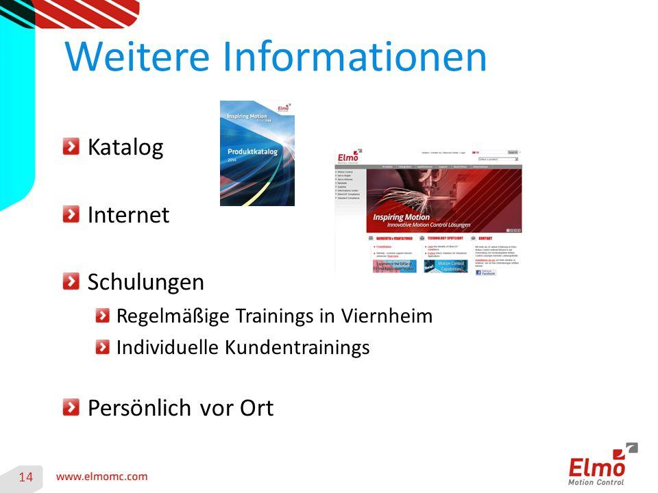 Katalog Internet Schulungen Regelmäßige Trainings in Viernheim Individuelle Kundentrainings Persönlich vor Ort Weitere Informationen 14