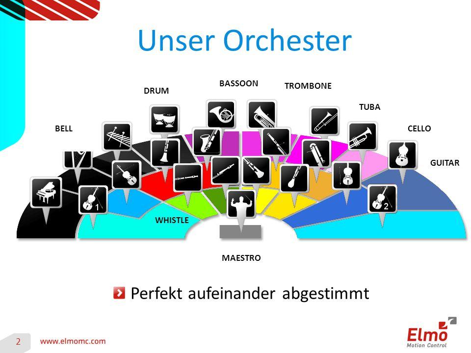 Unser Orchester 2 MAESTRO WHISTLE TROMBONE BELLCELLO DRUM GUITAR BASSOON TUBA Perfekt aufeinander abgestimmt