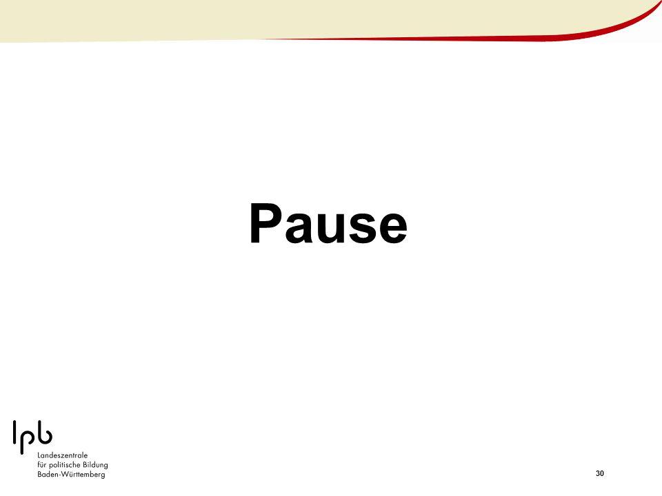 30 Pause