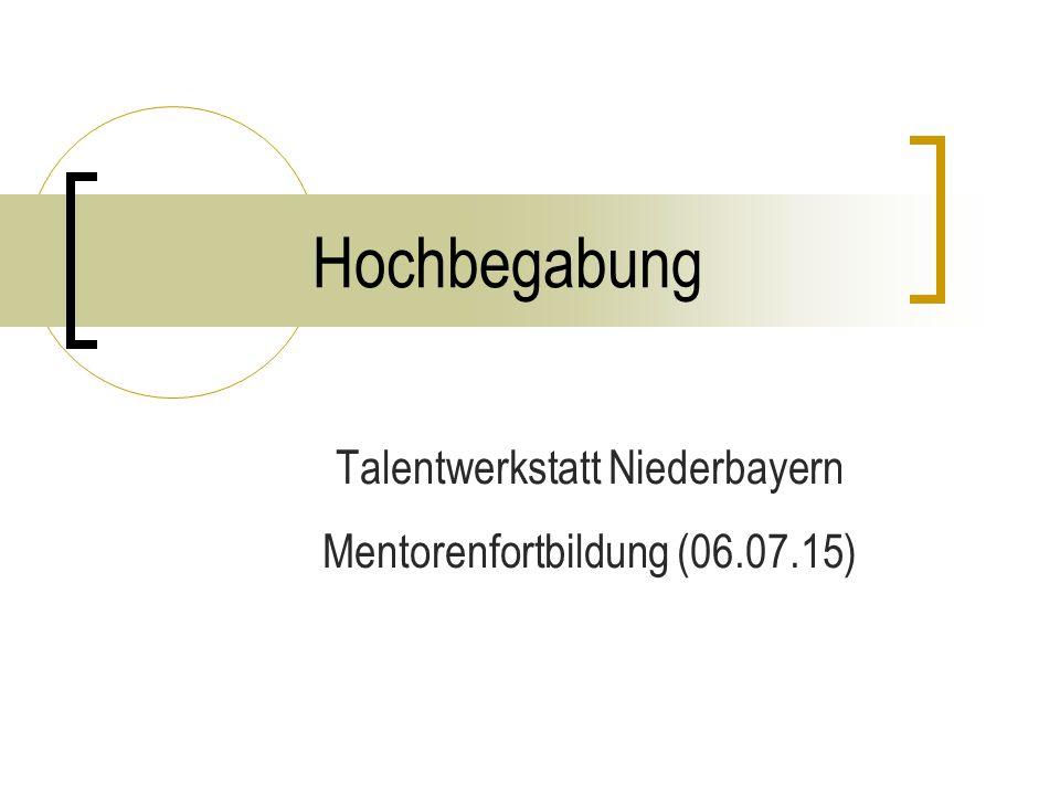 Hochbegabung Talentwerkstatt Niederbayern Mentorenfortbildung (06.07.15)