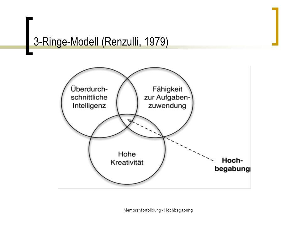 Mentorenfortbildung - Hochbegabung 3-Ringe-Modell (Renzulli, 1979)