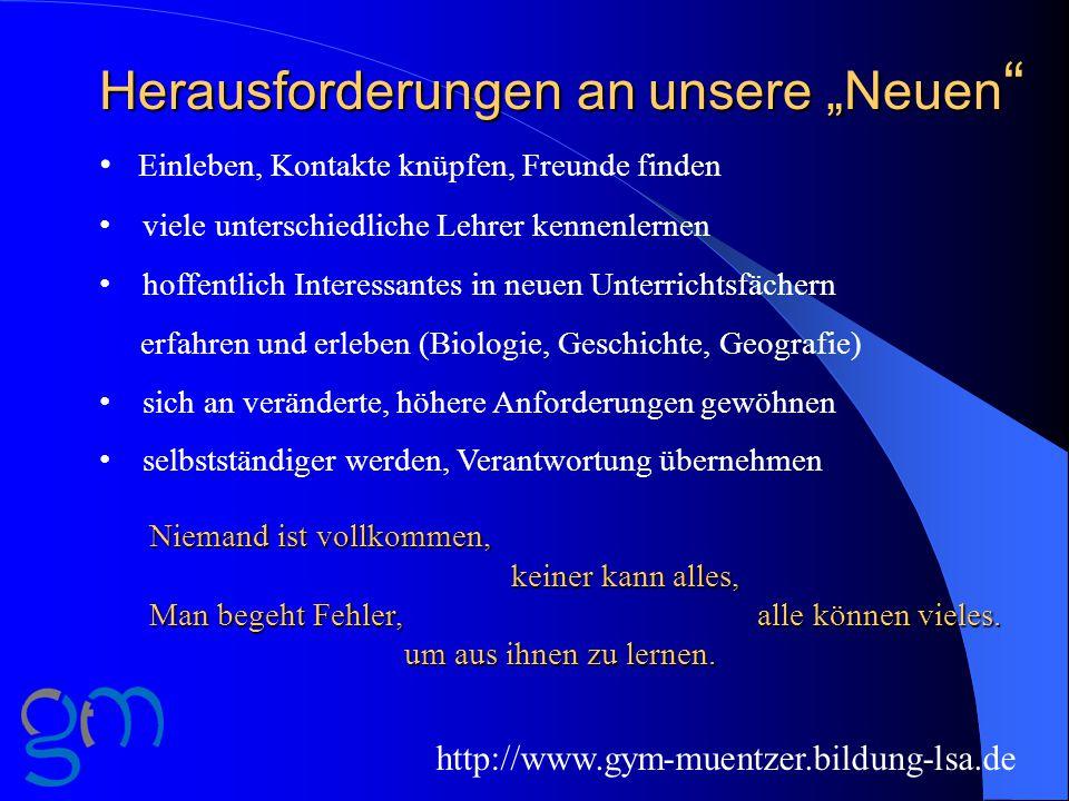 Schuljahr 2015/16 http://www.gym-muentzer.bildung-lsa.de Schulbuchverkauf: 25.08.2015, 16:00 -18:30 Uhr 27.08.2015, 16:30 -19:00 Uhr erster Schultag: 27.08.2015, Beginn 08:30 Uhr für unsere Neuen: 27.08.