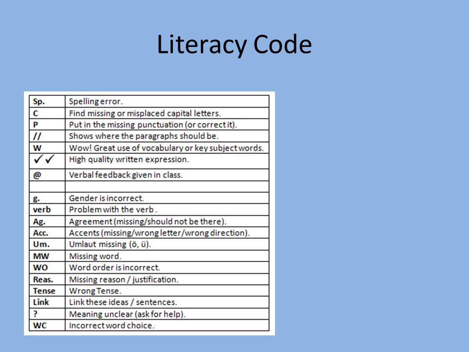 Literacy Code