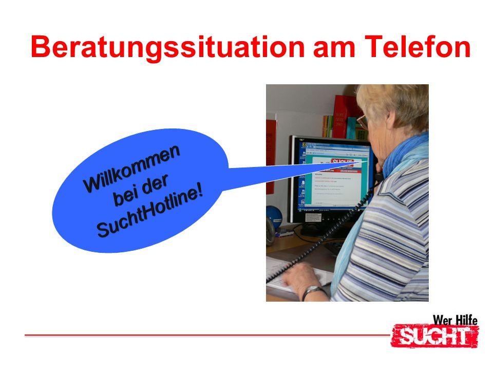 Beratungssituation am Telefon Willkommen bei der SuchtHotline!