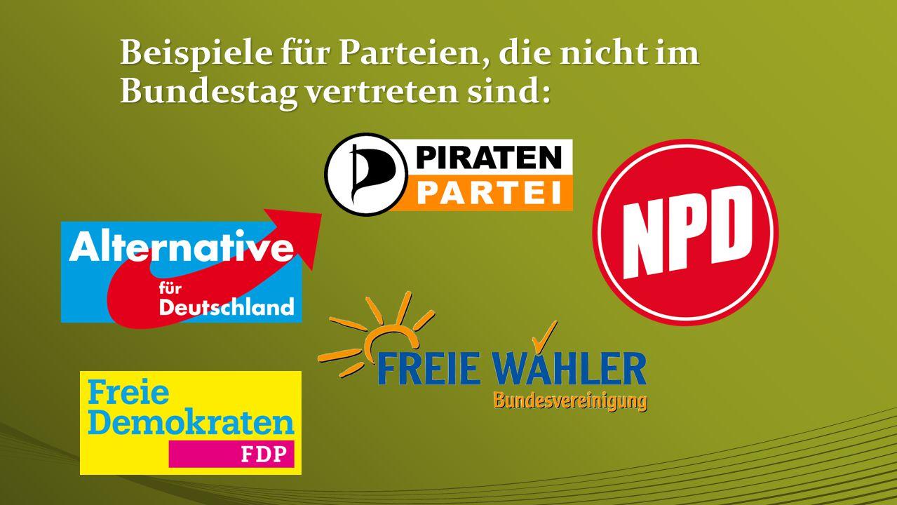 Was ist die 5%-(Prozent)-Klausel? Parteien, die weniger als fünf Prozent aller Stimmen bekommen, dürfen nicht in den Bundestag.