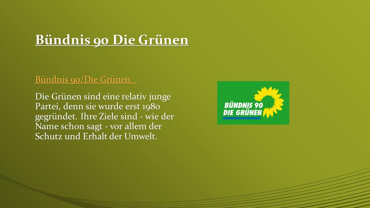 SPD Sozialdemokratische Partei Deutschlands (SPD) Die SPD ist neben der CDU die zweite große Partei. Ihre Ziele sind vor allen Dingen soziale Gerechti